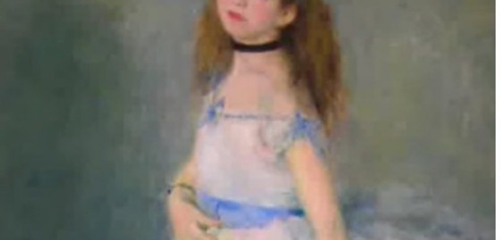 Renoir's Dancer being used for a lesson on how to paint soft edges