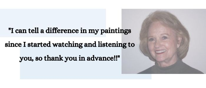 quote of how my painting lessons are helping