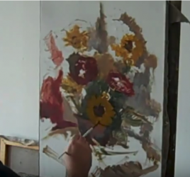 speed painting flowers