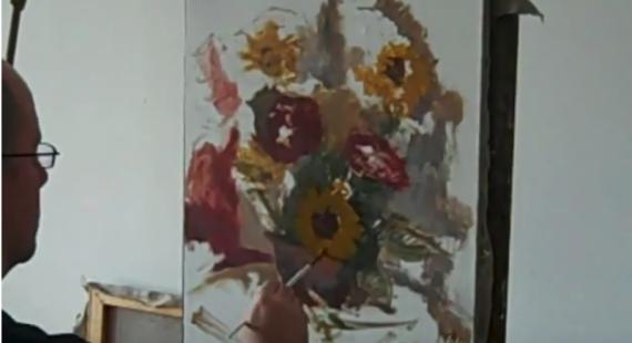 speed painting flowers