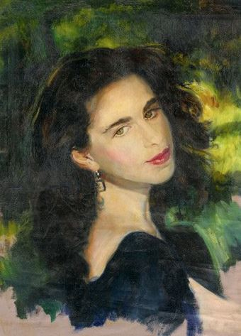 portrait of a girl with dark hair