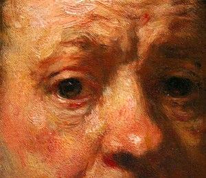 rembrandt self portrait closeup